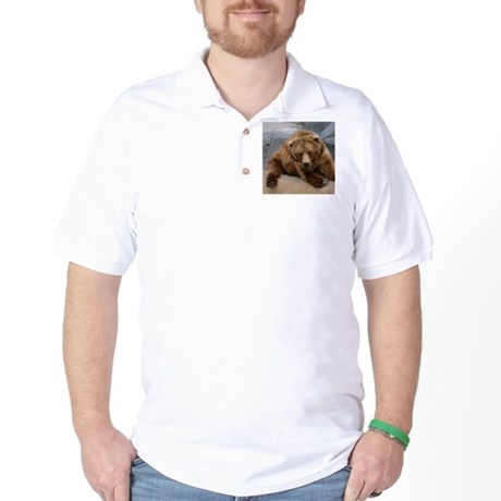 Alaskan Brown Bear Square Pho Golf Shirt