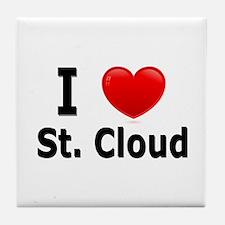 I Love St. Cloud Tile Coaster