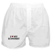 I Love My Economist Boxer Shorts