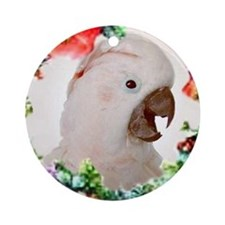 Moluccan Cockatoo Ornament (Round)