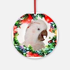 Moluccan Cockatoo Ornament (Round)