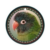 Blue crown conure Round Ornaments