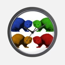 Ferret Colors Wall Clock