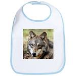 Grey Wolf Square Photo Bib