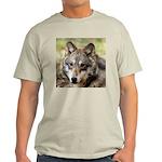 Grey Wolf Square Photo Ash Grey T-Shirt