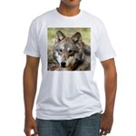 Grey Wolf Square Photo Fitted T-Shirt
