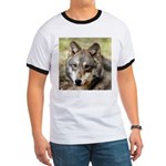 Grey Wolf Square Photo Ringer T
