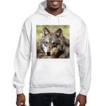 Grey Wolf Square Photo Hooded Sweatshirt