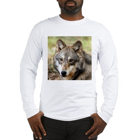 Grey Wolf Square Photo Long Sleeve T-Shirt