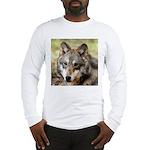 Grey Wolf Square Photo Long Sleeve T-Shirt