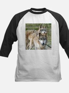 Grey Wolves Square Photo Kids Baseball Jersey