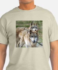 Grey Wolves Square Photo Ash Grey T-Shirt