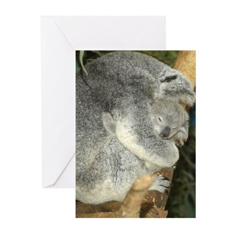 Koala Bear 2 With Baby Greeting Cards (Package of