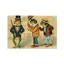 Dressed Up Frog Vintage Art Rectangle Magnet