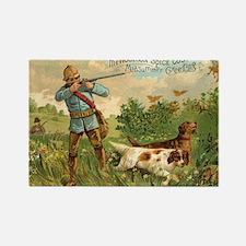 Hunters Dogs Vintage Art Rectangle Magnet