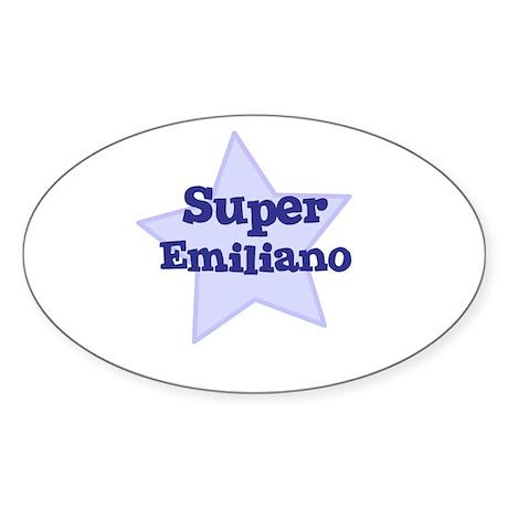 Super Emiliano Oval Sticker