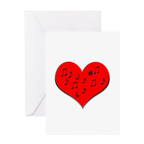 Music Heart Greeting Card