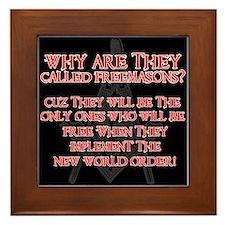 Anti-Masonic Framed Tile
