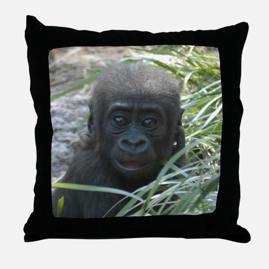 Baby Gorilla Throw Pillow