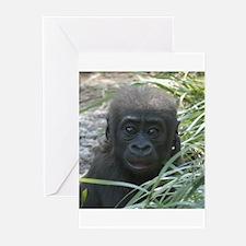Baby Gorilla Greeting Cards (Pk of 10)
