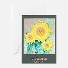 Deaf Sunflower Greeting Card