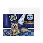 SILKY Terrier art items Greeting Cards (Package of