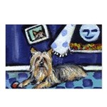 SILKY Terrier art items Postcards (Package of 8)