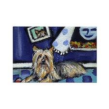 SILKY Terrier art items Rectangle Magnet (100 pack