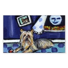 SILKY Terrier art items Rectangle Decal