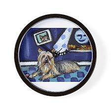 SILKY Terrier art items Wall Clock