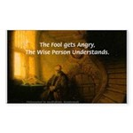 Fool Angry Wise Understand Rectangle Sticker