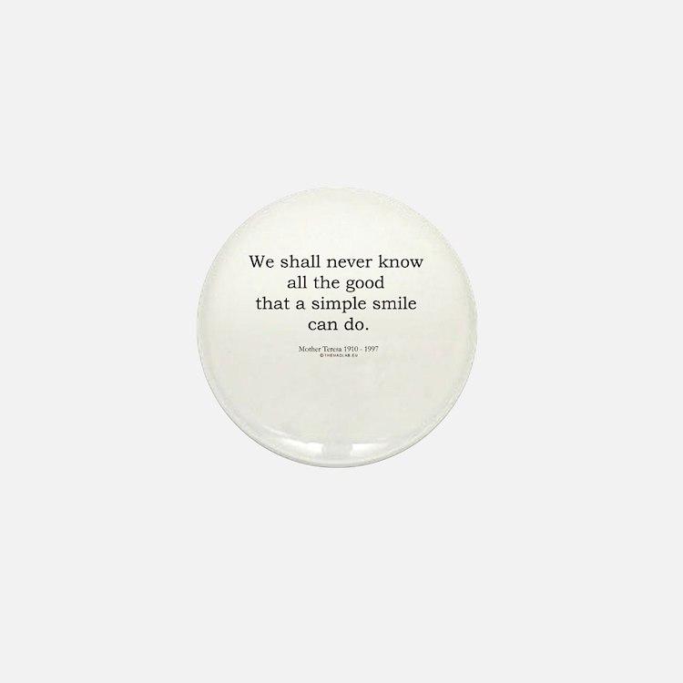 Mother Teresa 9 Mini Button