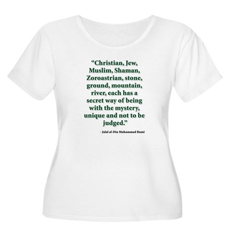 Rumi Religion Quote Women's Plus Size Scoop Neck T