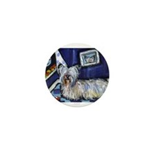 Skye Terrier items Mini Button