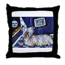 Skye Terrier items Throw Pillow