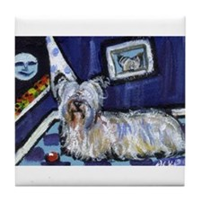 Skye Terrier items Tile Coaster