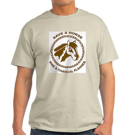 Ride A Financial Planner Ash Grey T-Shirt