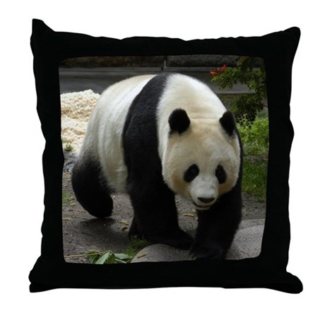 Panda Bear Mother Throw Pillow by 001122