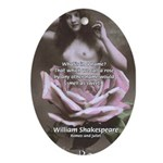 Shakespeare Quote Name Rose Oval Ornament