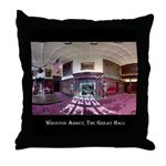 Wroxton Abbey, The Great Hall. Throw Pillow