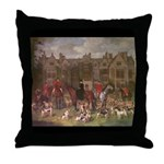 The Warwickshire Hunt. Throw Pillow