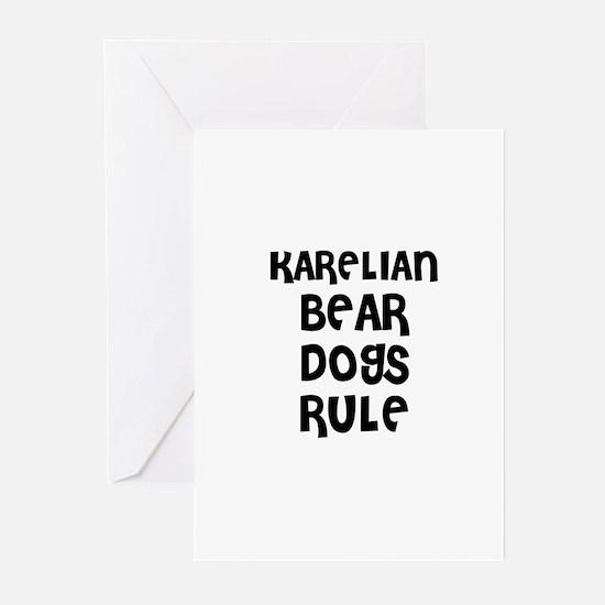 KARELIAN BEAR DOGS RULE Greeting Cards (Package of