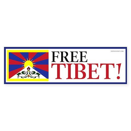 Free Tibet! Bumper Sticker