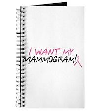 I Want My Mammogram! Journal