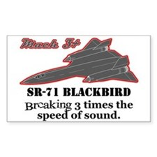 SR-71 Blackbird Rectangle Decal