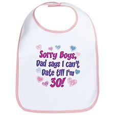 Sorry Boys Bib