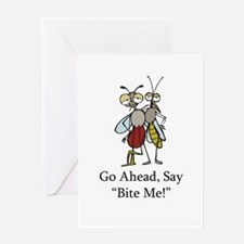 Mosquito Bite Me Greeting Card