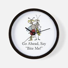 Mosquito Bite Me Wall Clock