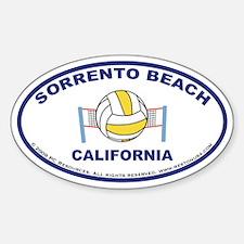 Sorrento Beach Volleyball Sticker2 (Oval)