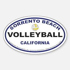 Sorrento Beach Volleyball Sticker3 (Oval)
